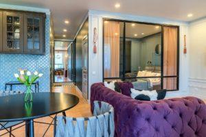 Квартира с мебелью и техникой в ЖК «Бригантина»
